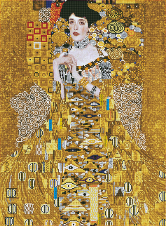 Goblen cu diamante, Femeia in Aur - Klimt 91x67cm [0]