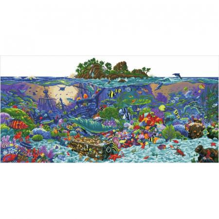 Goblen cu diamante,  Insula de corali, 132x65 cm [11]