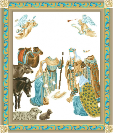 Goblen cu diamante, Nasterea lui Iisus, 100x85 cm [2]