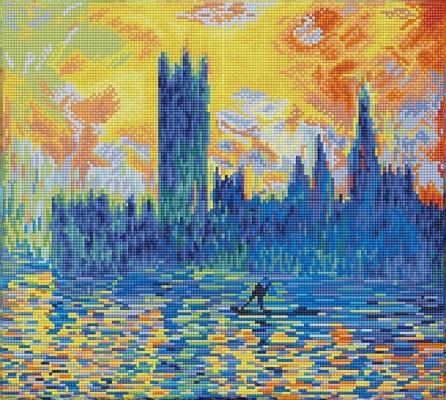 Parlamentul din Londra, Iarna - Monet [0]