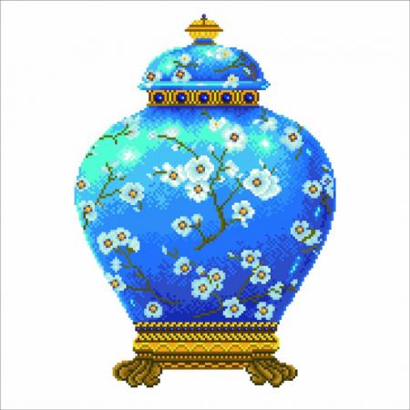 Se goblen cu diamante fara sasiu, Vaza Albastra [1]