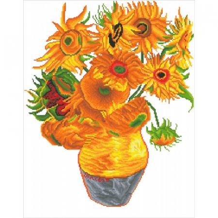 Goblen cu diamante,  Vaza cu flori - Van Gogh 71x56 cm  I Goblenuri cu diamante I dego.ro [11]