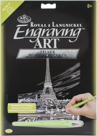 Set gravura folie argintie, Turnul Eiffel0