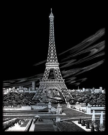 Set gravura folie argintie, Turnul Eiffel1