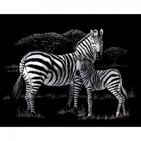 Set gravura folie argintie, Zebre [0]