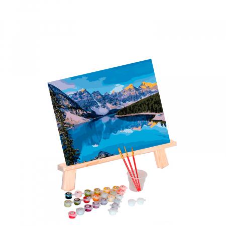 Set pictura pe numere, cu sasiu, Mountain River, 40x50 cm0