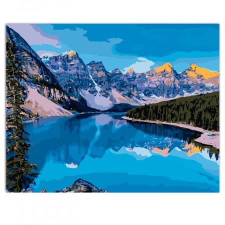 Set pictura pe numere, cu sasiu, Mountain River, 40x50 cm1