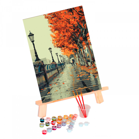 Set pictura pe numere, cu sasiu, Autumn, 40x50 cm0