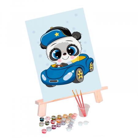 Set pictura pe numere, cu sasiu, Little Panda, 20x30 cm1