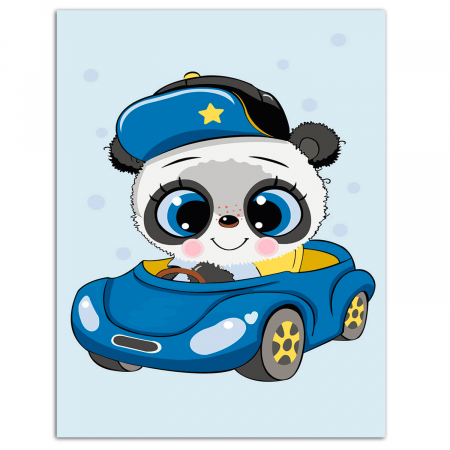 Set pictura pe numere, cu sasiu, Little Panda, 20x30 cm0