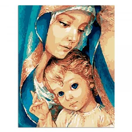 Set pictura pe numere, cu sasiu, Fecioara Maria, 40x50 cm [0]