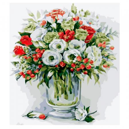 Set pictura pe numere, cu sasiu, Buchet de trandafiri [1]