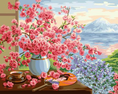 Pictura pe numere Buchet Sakura [0]