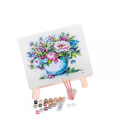 Set pictura pe numere, cu sasiu, Flori delicate, 40x50 cm1