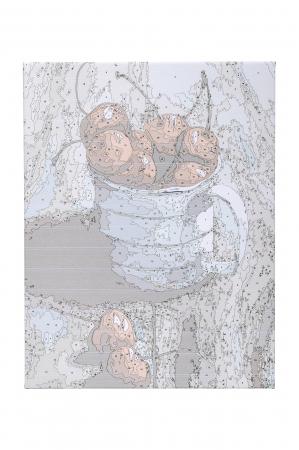 Set pictura pe numere, cu sasiu, Cirese in cana, 30x40 cm4