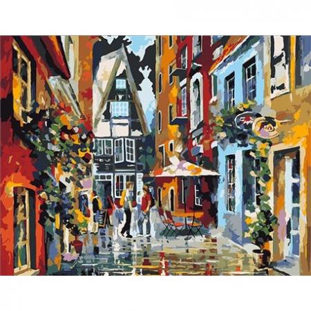 Set pictura pe numere, cu sasiu, Dupa ploaie, 50x40 cm0