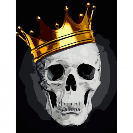 Set pictura pe numere, cu sasiu, Fashionable Skull, 40x50 cm0
