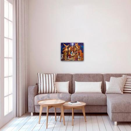 Set pictura pe numere, cu sasiu, Nasterea Pruncului, 40x50 cm2