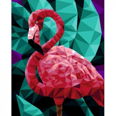 Set pictura pe numere, cu sasiu, Flamingo, 40x50 [0]