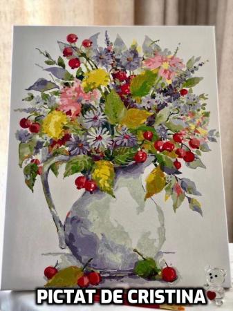 Set pictura pe numere, cu sasiu, Flori de Camp 2 [1]