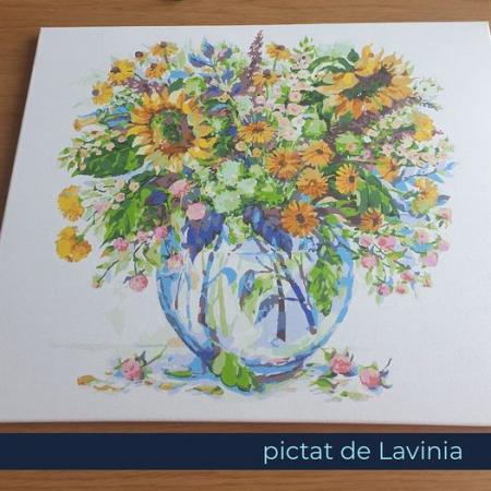 Set pictura pe numere, cu sasiu, Flori de Camp [8]