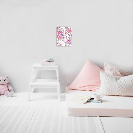 Set pictura pe numere, cu sasiu, Flori delicate, 30x40 cm2