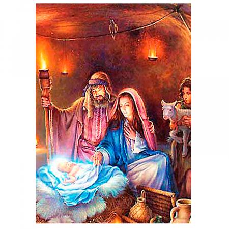 Set pictura pe numere, cu sasiu, Nasterea lui Iisus, 40x50 cm1