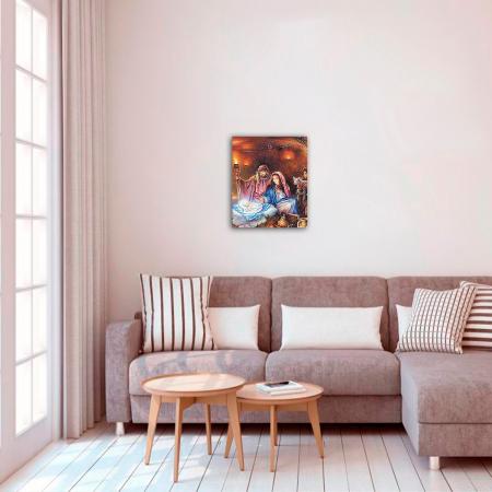 Set pictura pe numere, cu sasiu, Nasterea lui Iisus, 40x50 cm2