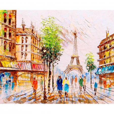 Set pictura pe numere, cu sasiu, Impresie din Paris, 40x50 cm0