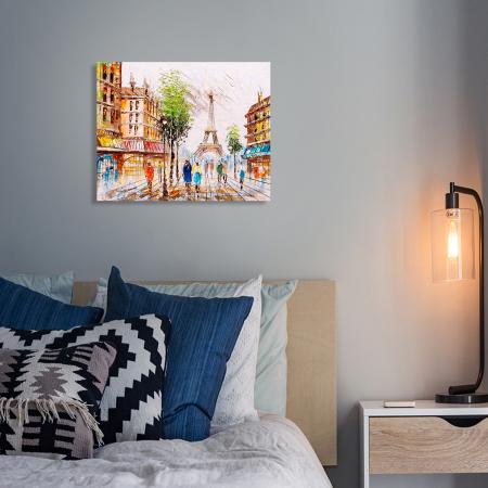 Set pictura pe numere, cu sasiu, Impresie din Paris, 40x50 cm4