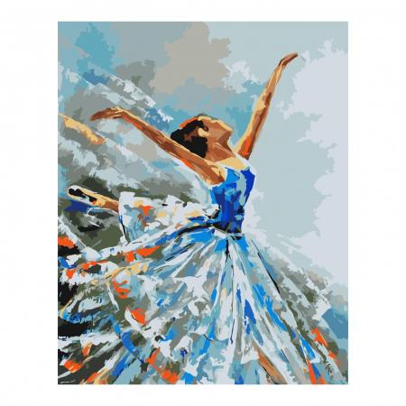 Set pictura pe numere, cu sasiu, Balerina, 40x50 cm0