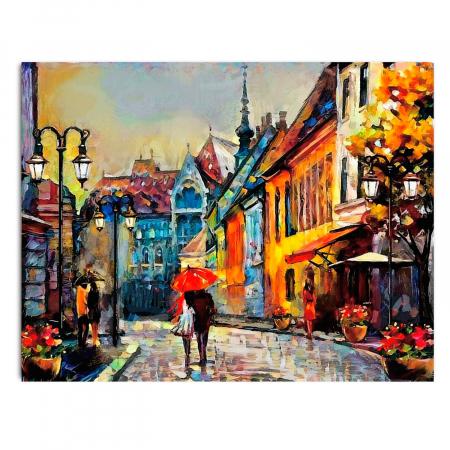 Set pictura pe numere, cu sasiu, European Town, 40x50 cm1