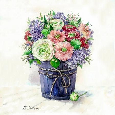 Set pictura pe numere, cu sasiu, Liliac in vaza, 40x50 cm1