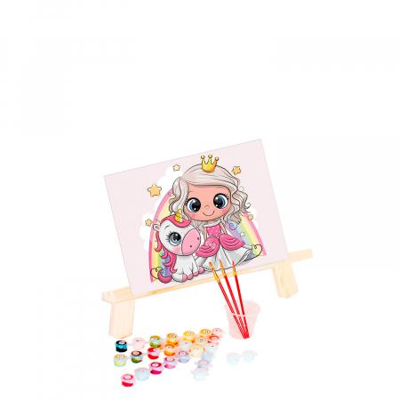 Set pictura pe numere, cu sasiu, Little princess, 20x30 cm0