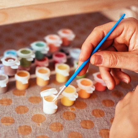 Set pictura pe numere, cu sasiu, Lup - pop art, 40x50 [2]