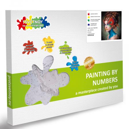 Set pictura pe numere, cu sasiu, Masquerade, 40x50 cm6