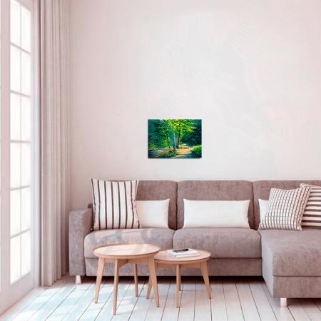 Set pictura pe numere cu sasiu, Mesteceni, 40x50 cm2