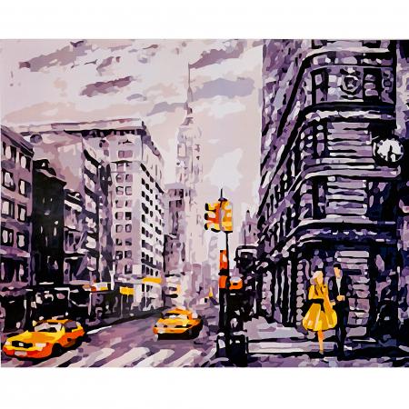 Set pictura pe numere, cu sasiu, Metropola, 40x50 cm0