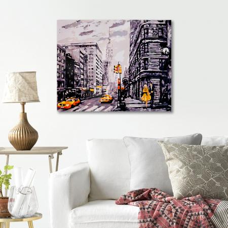 Set pictura pe numere, cu sasiu, Metropola, 40x50 cm4