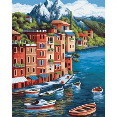 Set pictura pe numere, cu sasiu, Varf de munte, 40x50 cm0