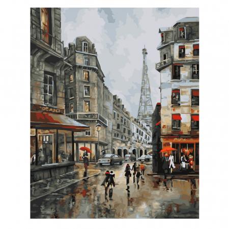 Set pictura pe numere, cu sasiu, Paris, 40x50 cm0