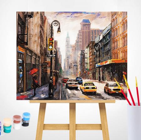Set pictura pe numere, cu sasiu, New York City, 40 x50 cm [0]