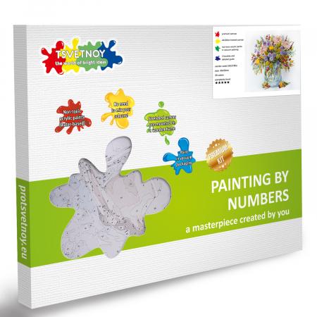 Set pictura pe numere, cu sasiu, Noul buchet de toamna, 40x50 cm5