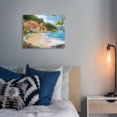 Set pictura pe numere, cu sasiu, Oras la mare, 40x50 cm3