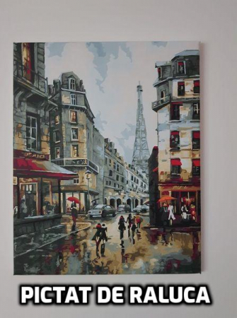 Set pictura pe numere, cu sasiu, Paris [2]