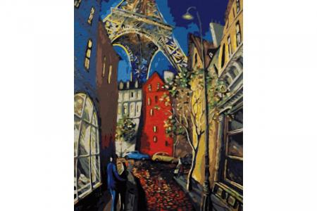 Set pictura pe numere, cu sasiu, Parisul romantic, 50x40 cm0