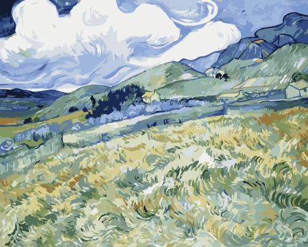 Set pictura pe numere, cu sasiu, Peisaj montan, 40x50 cm0