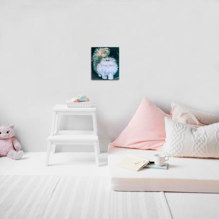 Set pictura pe numere, cu sasiu, Pisica pufoasa, 30x40 cm5