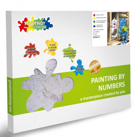 Set pictura pe numere, cu sasiu, Pisici - Surpriza [6]