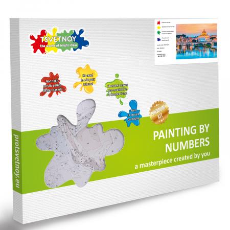 Set pictura pe numere, cu sasiu, Podul Sant'Angelo [5]